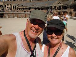Larry and Norma in Rome